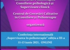 """Conferința internațională """"Supervizarea în Psihoterapie"""", ediția a III-a, 11-13 iunie 2020, ONLINE"""