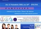Conferința națională Comunicări științifice ale studenților 12 noiembrie 2020, ora 16 00 ONLINE ZOOM